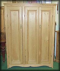 Small Victorian Pine Wardrobe Armoires & Wardrobes 1800-1899