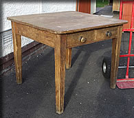circa 1900 square leg pine table